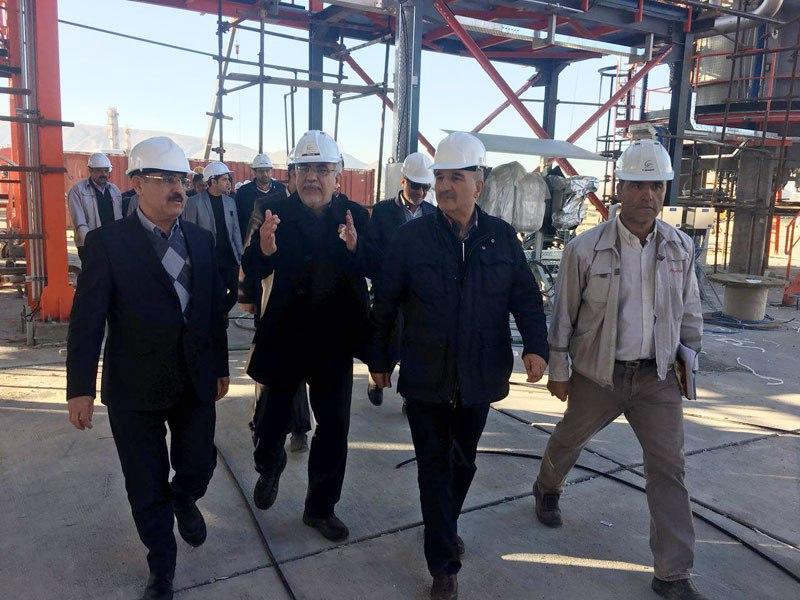 بازدید معاون وزیر نفت از پتروشیمی ایلام