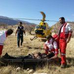 جوان مصدوم شده دره شهری در ارتفاعات گاچال از مرگ حتمی نجات یافت