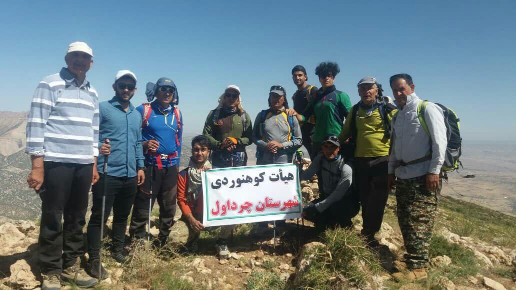 صعود کوهنوردان چرداولی به ارتفاعات قلارنگ