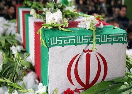 مراسم تکریم پیکر پاک ۴۰ شهید دوران دفاع مقدس تازه تفحص شده در مهران