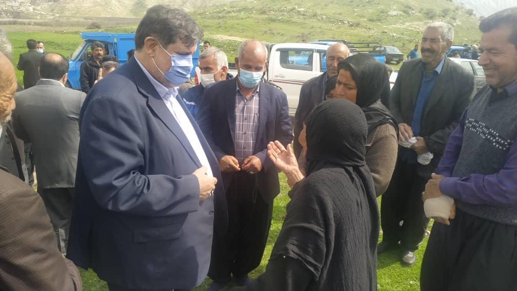 سفر اسماعیل نجارو رئیس سازمان مدیریت بحران به روستای چم شیر سیروان