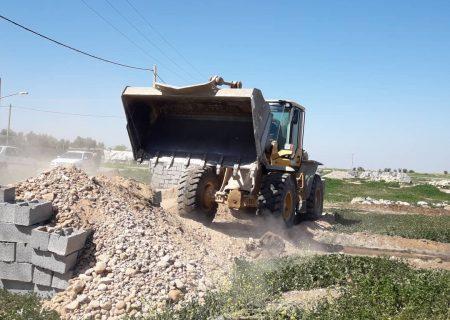 رفع تصرف ۴۴۰۰ مترمربع از اراضی ملی و دولتی شهر موسیان شهرستان دهلران