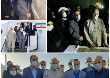 بازدید میدانی و سفر رییس مجلس شورای اسلامی به استان ایلام