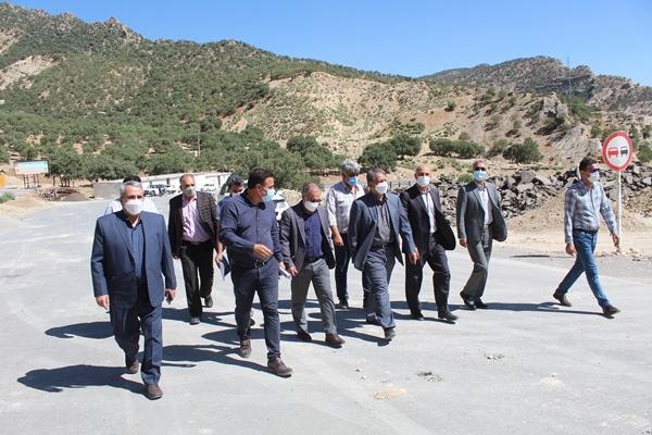بررسی وضعیت عملیات اجرایی تونل دوم آزادی در محور ایلام- حمیل- کرمانشاه